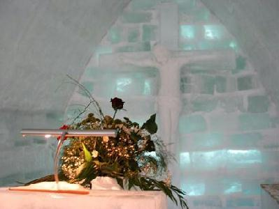 A Jégtemplomban márcisuban tartanak esküvőt (A szerző felvételei)