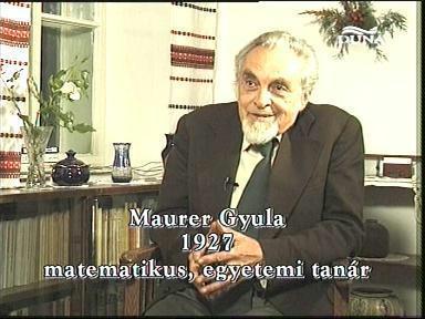 Maurer Gyula matematikus