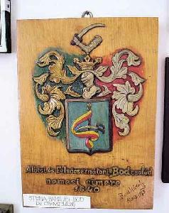 A Bod család nemesi címere (Haszmann Pál Néprajzi Múzeum, Csernáton)