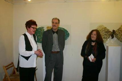Nagy Annamária, Nagy Csongor és Németh Júlia a megnyitón – HORVÁTH LÁSZLÓ FELVÉTELE