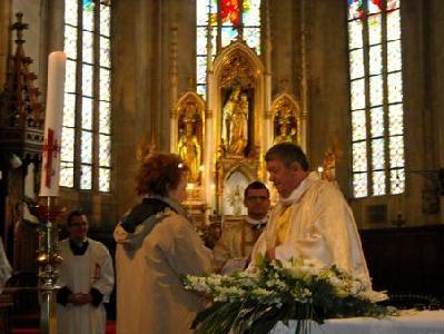 Fábián Mária a családias hangulatért mondott köszönetet Kovács Sándor esperesnek - A SZERZŐ FELVÉTELE