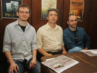 A három magyar díjazott: Bálint Tamás, Benő Attila és Potozky László - ROHONYI D. IVÁN