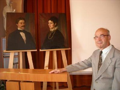 Brandt professzor és felesége portréja, Gaal György társaságában FODOR GYÖRGY