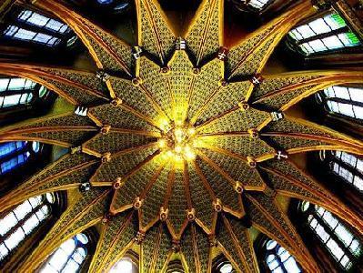 Az Országház kupolacsarnokának belső csillagmennyezete