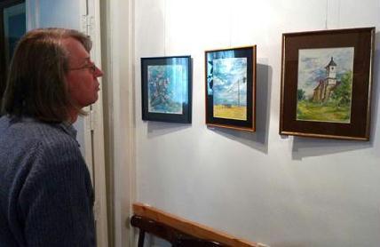 A kiállításon Désy Károly 29 akvarellje – tájképek, csendéletek, városképek, portrék – tekinthető meg ÖRDÖG I. BÉLA
