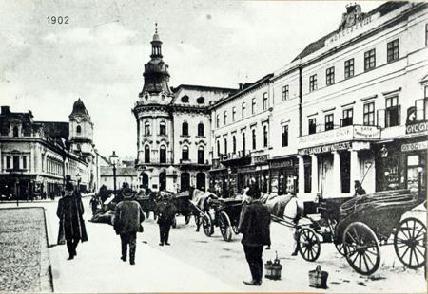 Kolozsvár főtere. A városi polgárság nagy része csatlakozott az 1868-ban alakult Kolozsvári Körhöz