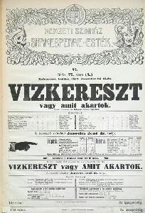 A Shakespeare-ciklus egyik plakátja