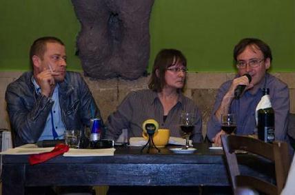 Orbán János Dénes, Könczei Csilla és Stefano Bottoni a beszélgetésen (Fotó: Sebők Botond)