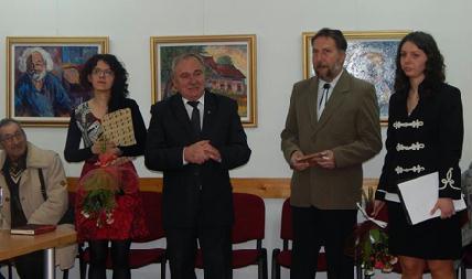 Újvári Dorottya, Ferenczy Miklós, Kovács Emil Lajos és Kovács Aletta a megnyitón