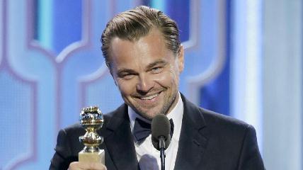 A legjobb férfi főszereplő díjával Leonardo DiCapriót jutalmazták (Fotó: Paul Drinkwater/Associated Press)