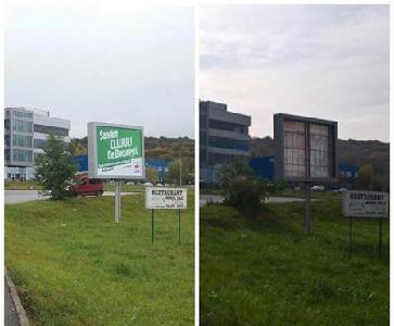 A helyi rendőrség azonnali hatállyal leszedette a reklámpannókat - RMDSZ