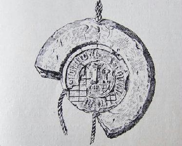 A nagy pecsétnyomóval készült függőpecsét egy 1493. december 3-i céhiraton