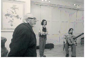 FOTÓ: ROHONYI D. IVÁN– Lőrincz Lehel, Zakariás Ágota és Beke István a megnyitón
