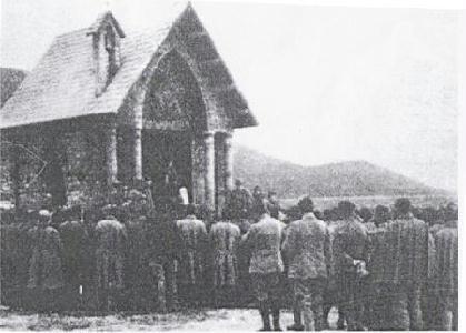 Az asinarai kápolna felszentelése 1916-ban – ARCHÍV/REPRODUKCIÓ