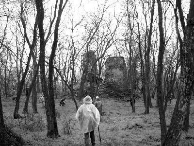 Turisták a Valkói várban