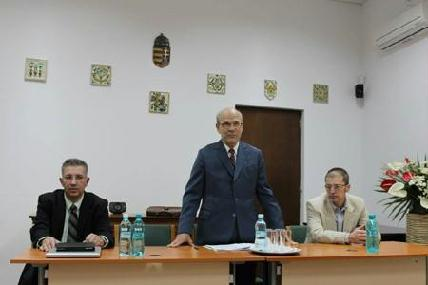 Maksay Ádám, Gaal György és Weisz Attila a közgyűlésen - HORVÁTH LÁSZLÓ